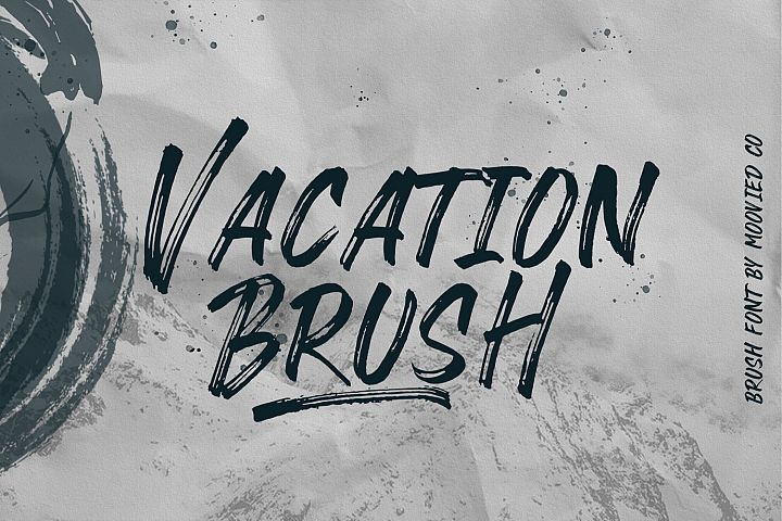 Vacation Brush Font