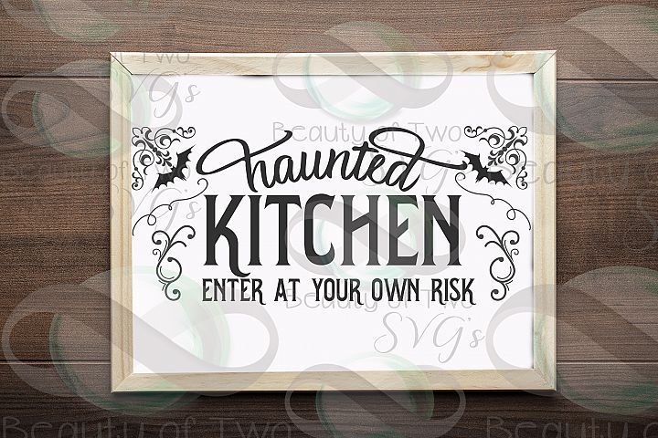 Halloween svg sign design, Haunted kitchen svg, kitchen svg