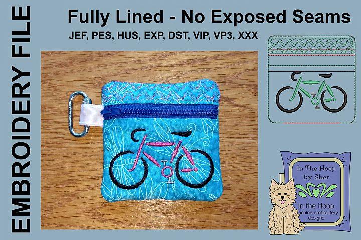 Road Bike Mini Zipper Bag / Fully Lined, 4X4 HOO