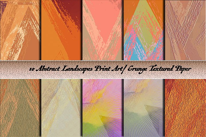 Abstract print landscapes. Grunge surfaces