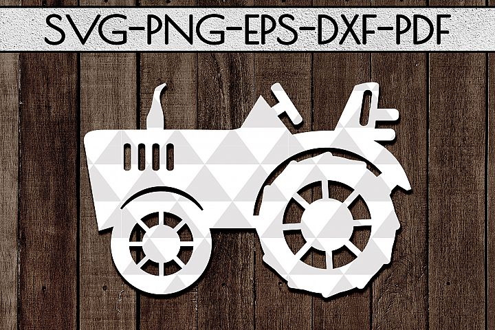 Farm Tractor Papercut Template, Rustic Farm Decor, PDF, SVG