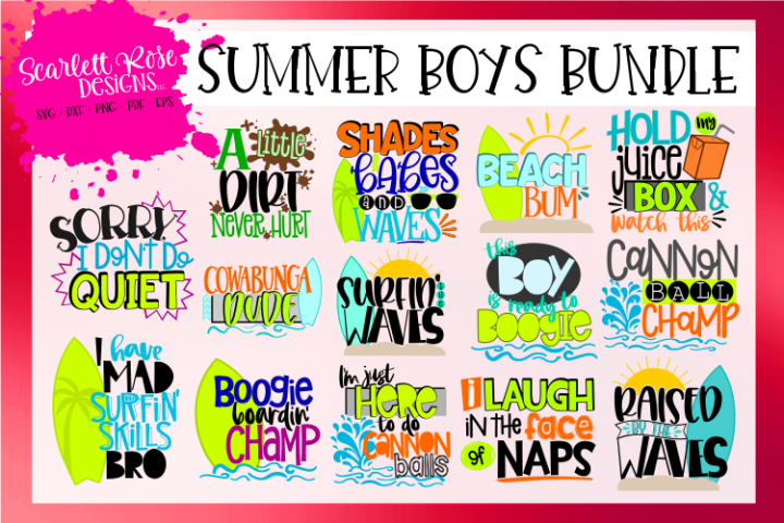 Summer Boys SVG Bundle
