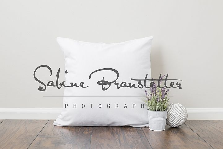 Styled Stock Photography Square White Pillow Mockup