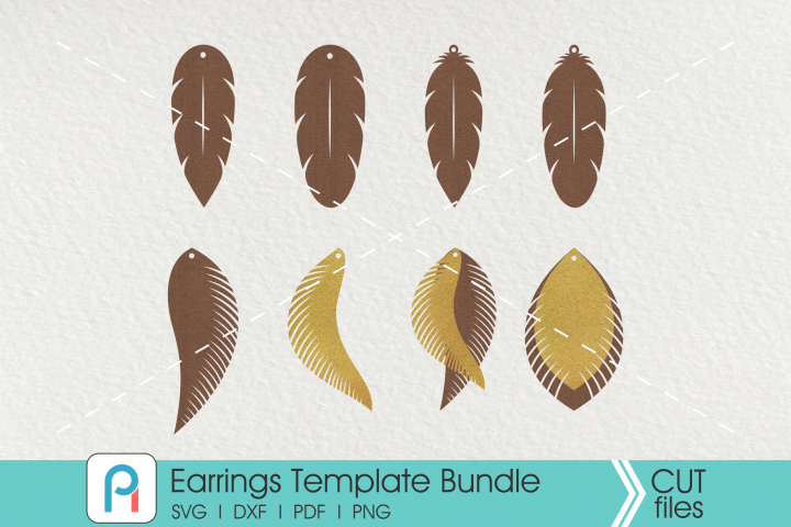 Earrings Svg, Earrings Template svg Bundle,Earrings Template