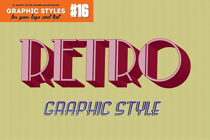 10 Retro Vintage Graphic Style for Adobe Illustrator