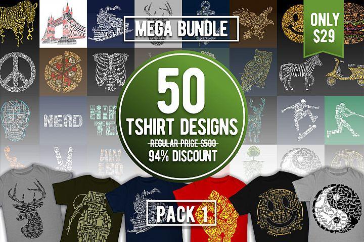 Tshirt Designs Mega Bundle Pack 1