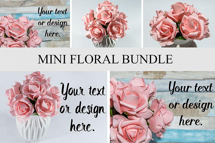 Mini Floral Bundle Mockup Styled Stock Photography Stock pho