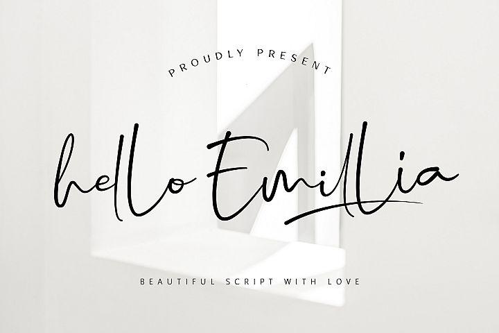 Hello Emillia Script