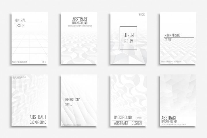 White futuristic 3d brochures,covers