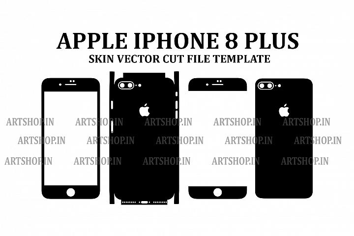 Apple iPhone 8 Plus Vinyl Skin Vector Cut File