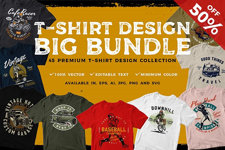 T-shirt Design BIG BUNDLE