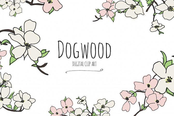 Dogwood - Digital Clip Art