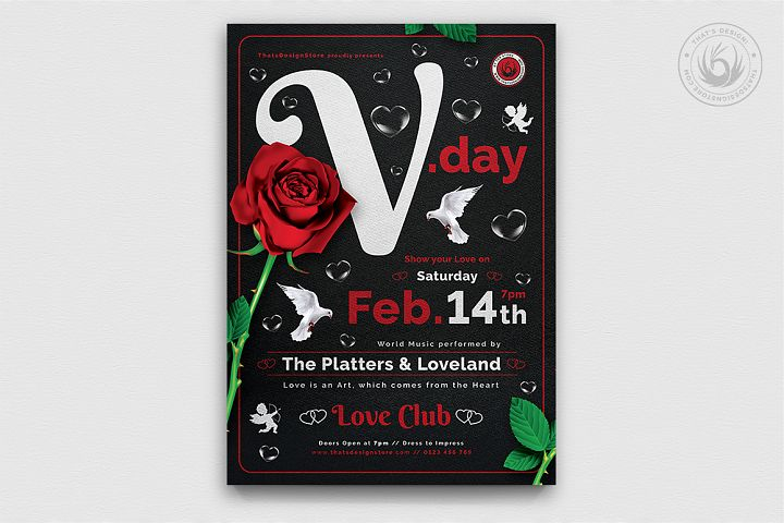 Valentines Day Flyer Template V19