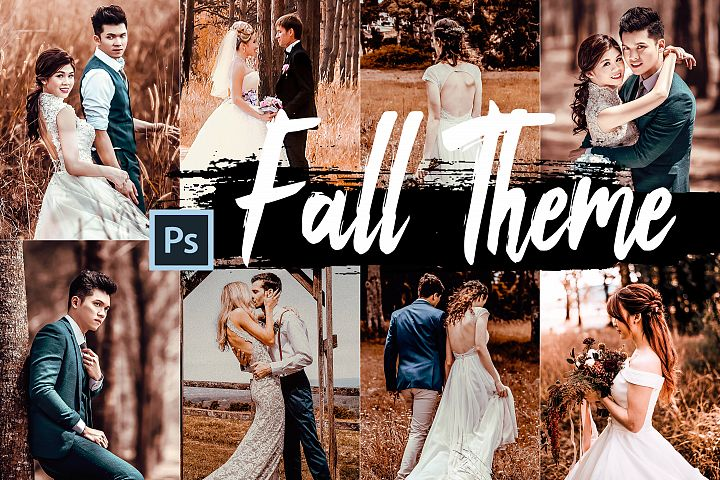 5 Fall Photoshop Actions, ACR and LUT presets