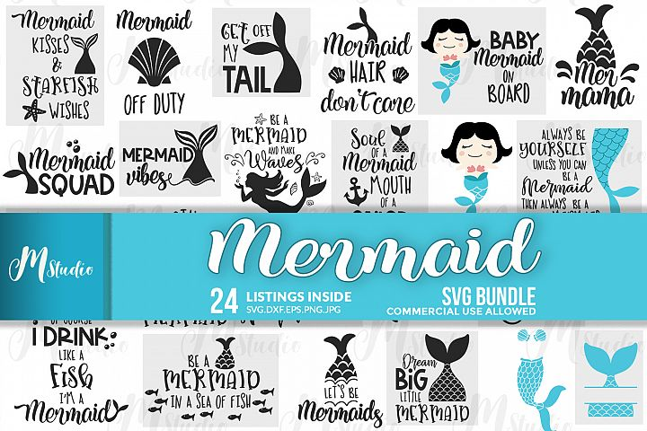 Mermaid svg Bundle.