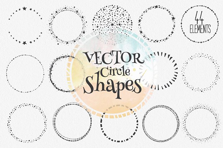 Hand Drawn Circle Shapes - Logo elements