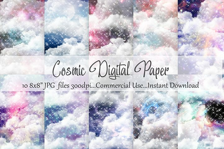 Cosmic 8x8 Digital Paper