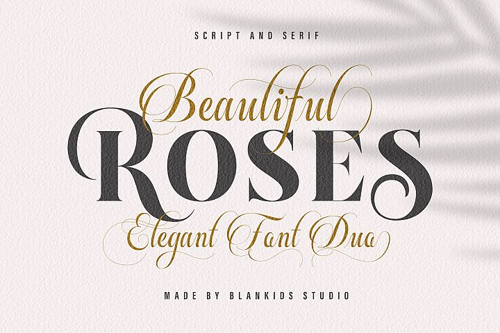 Beautiful Roses Duo Font