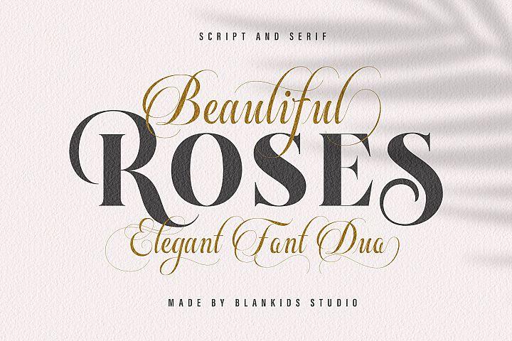 Beautiful Roses Duo Font