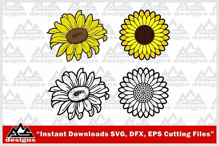 Sun Flower Svg Design