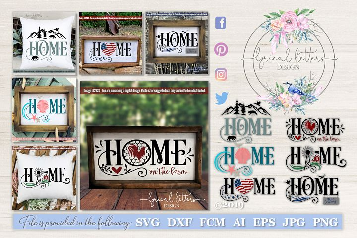 NEW! Home Bundle of 6 SVG Cut Files LL262