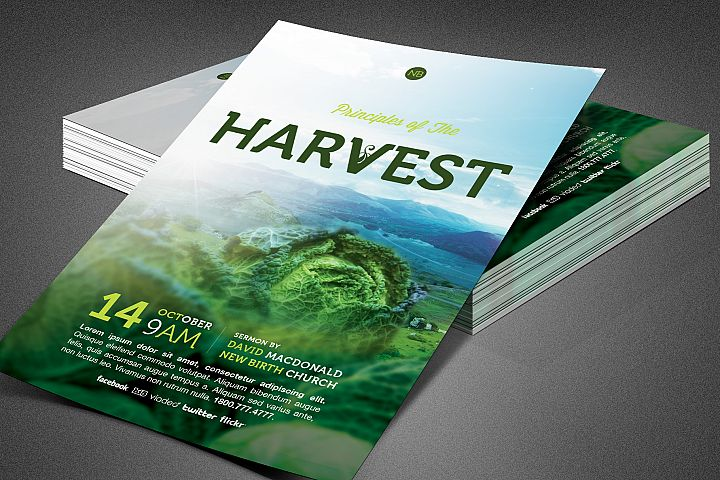 Principles of Harvest Church Flyer