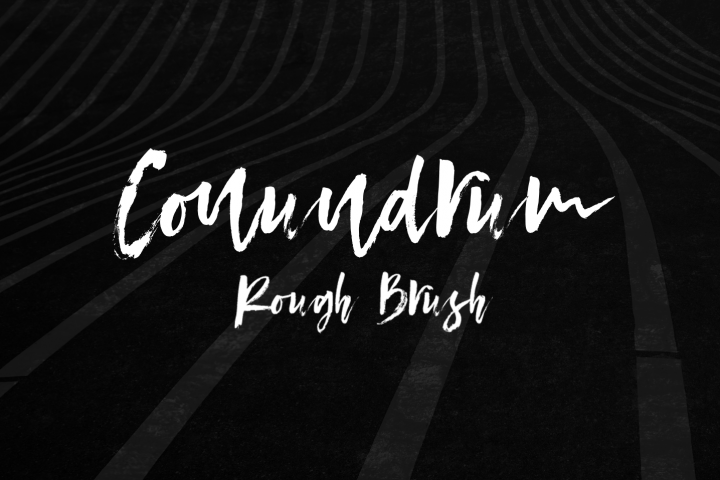 Conundrum Rough Brush Font