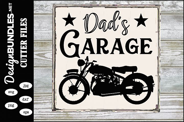 Dads Garage-Motorcycle SVG