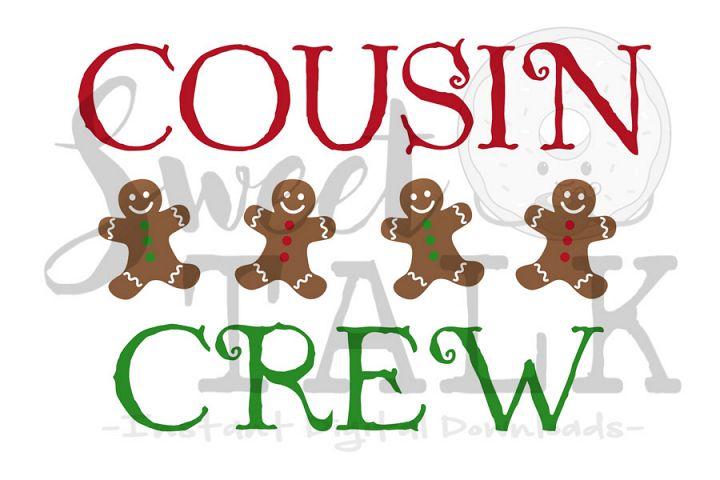 Cousin Crew christmas-svg digital download