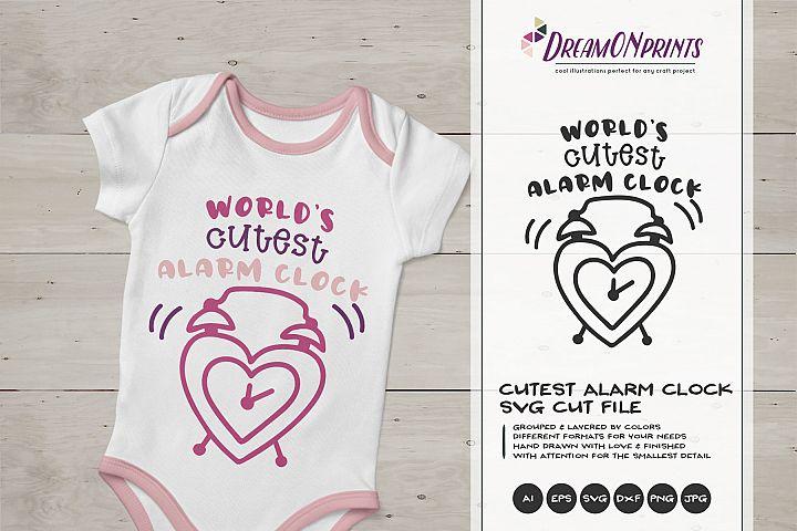 Worlds Cutest Alarm Clock | Baby SVG Cut Files