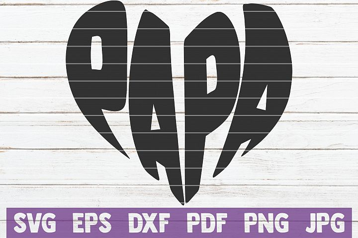 Papa SVG Cut File | commercial use