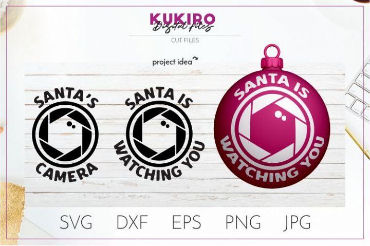 Santas camera SVG - Funny Christmas SVG Cut file