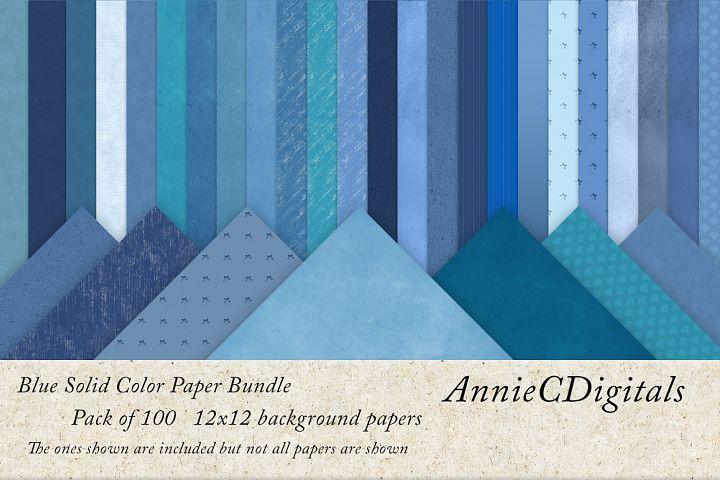 Blue solids digital paper bundle
