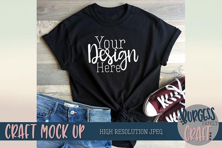 Black t-shirt styled Craft Mock up | High Resolution JPEG