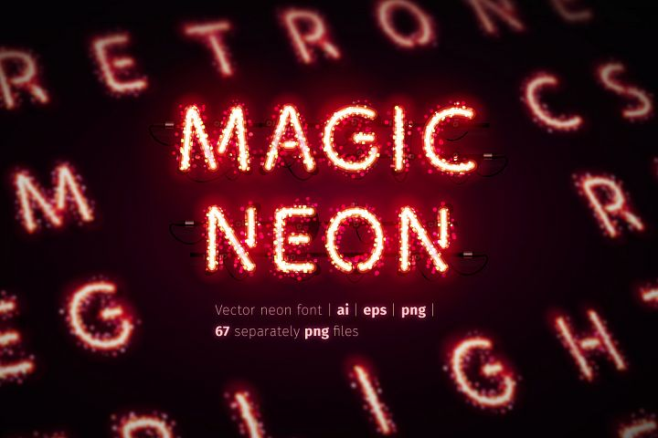 Glowing Magic Neon Type