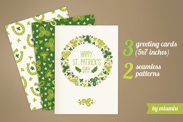 Greeting cards for St. Patricks Day