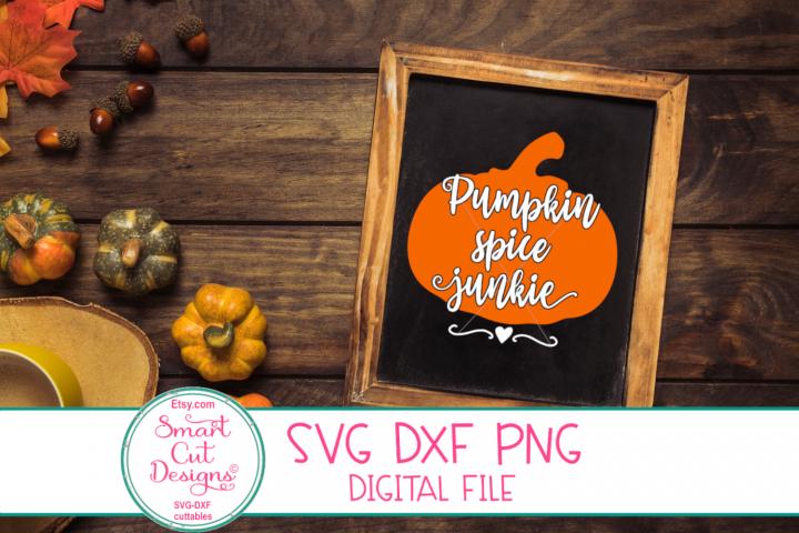Pumpkin Spice Junkie SVG, Pumpkin, Farmhouse,Autumn, Fall