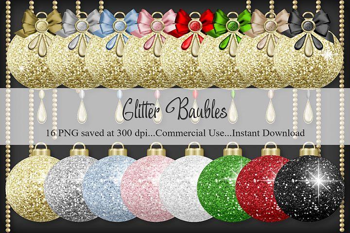 Glitter Baubles