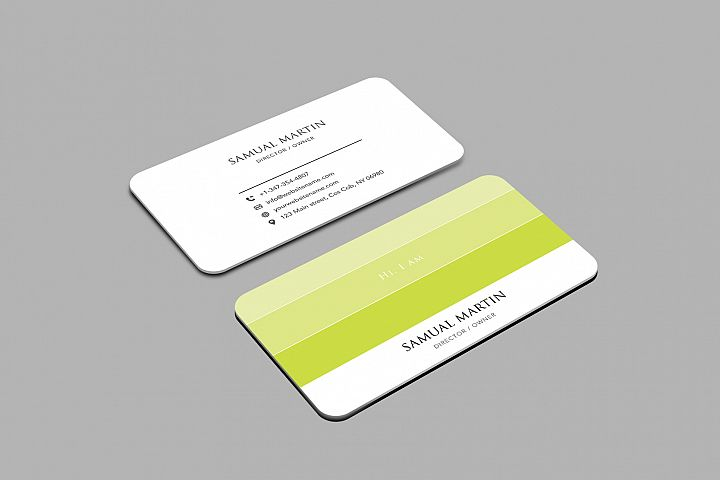 Beautiful Colours Modern Art Business Card