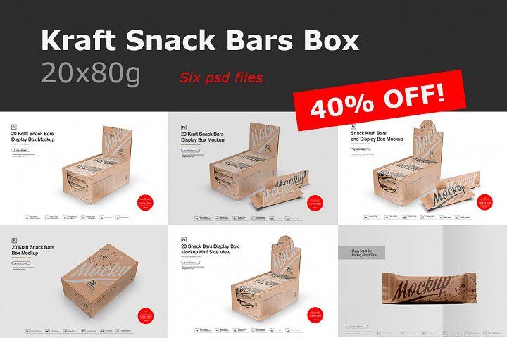 Kraft Snack Bars Box 20x80g Mockup