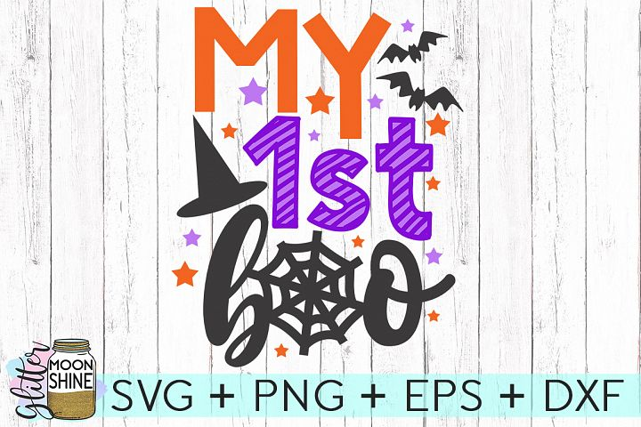 My First Boo SVG DXF PNG EPS Cutting Files