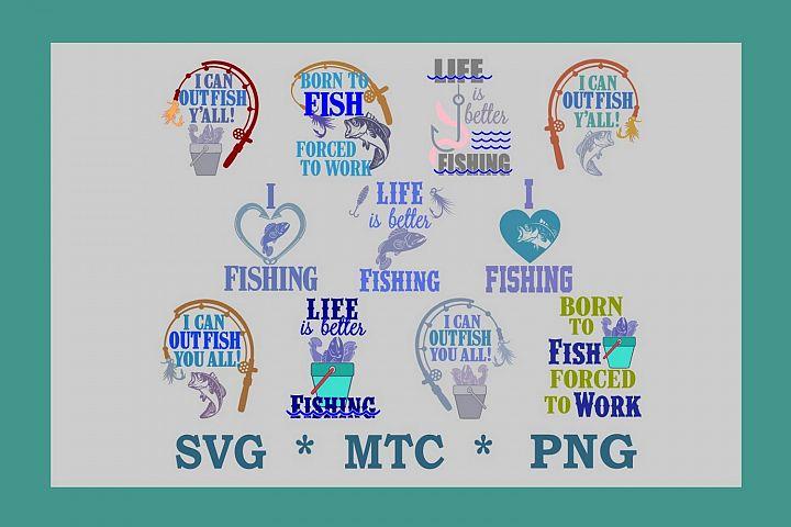 Fishing Bundle 11 SVG Cut Files