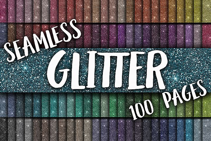 Glitter Digital Paper - Includes 100 Seamless Glitter Textures