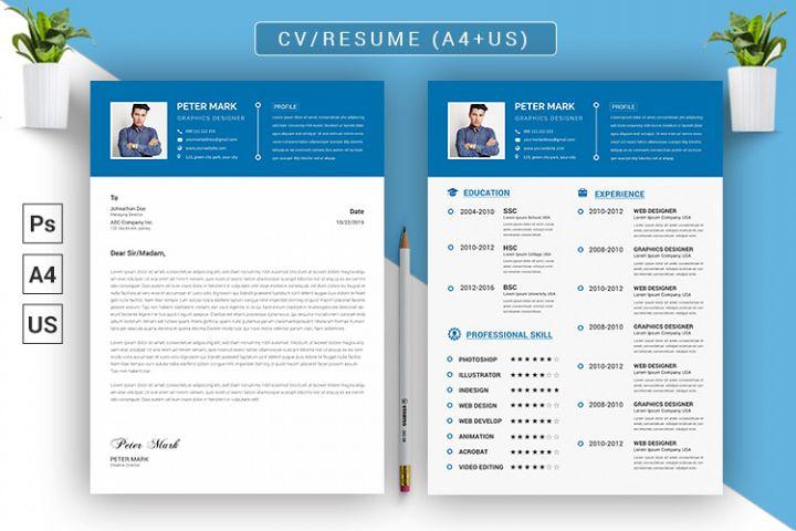 CV Resume PSD Template