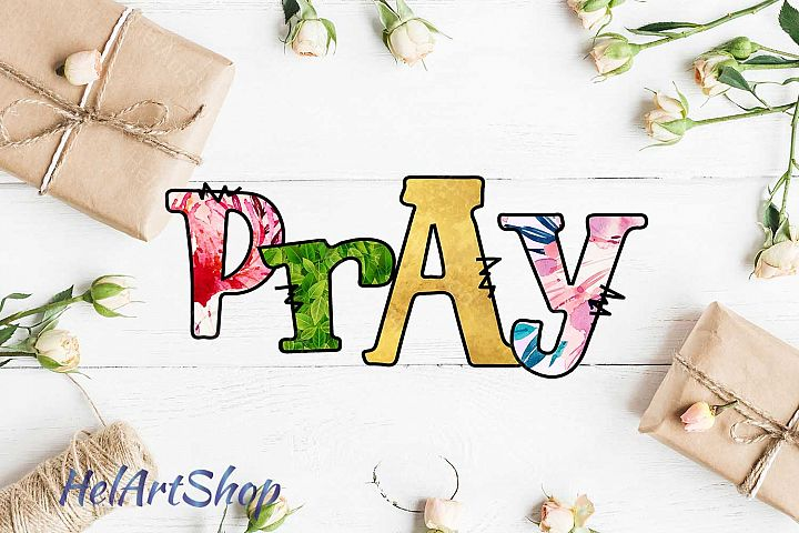 Pray Sublimation Design , Hand Drawn, png sublimation