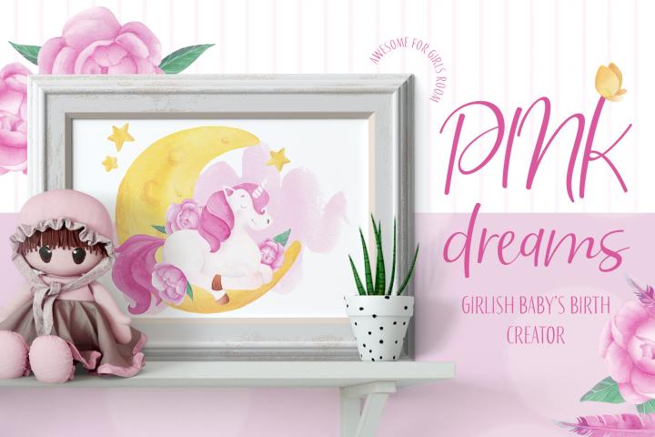Pink dreams - babys birth creator