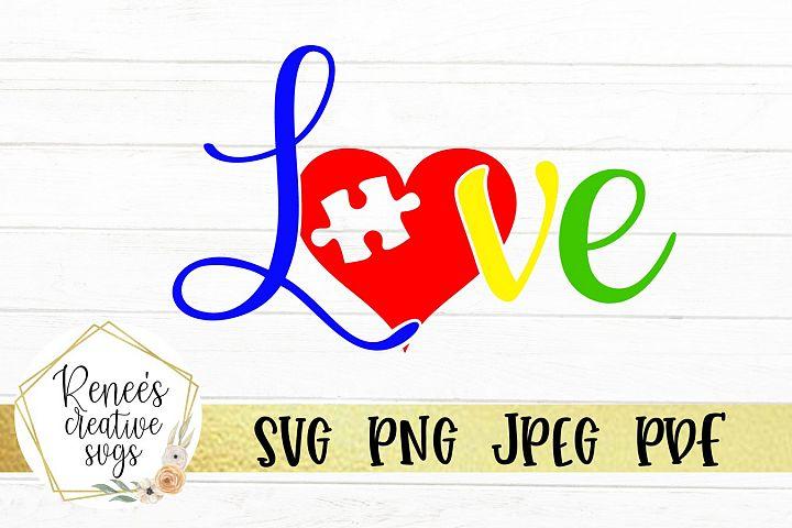 Autism Love | Autism | SVG Cutting File