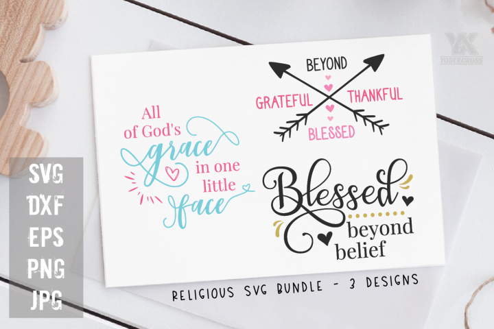 Religious Quotes SVG Bundle - 3 SVGs
