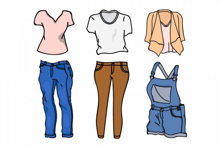 collection of clothes vector designs