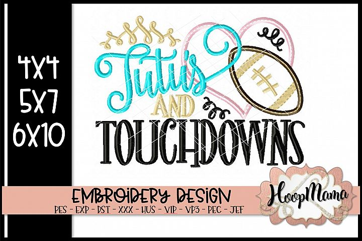Tutus And Touchdowns - Football Embroidery